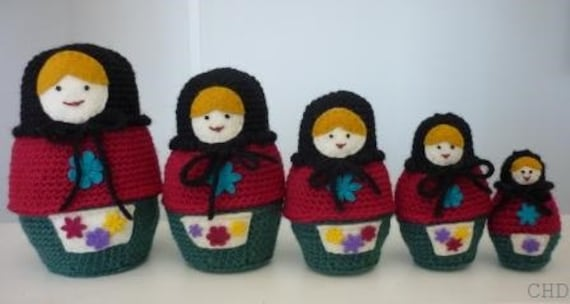 Amigurumi Mini Matryoshka | Toma Creations | 304x570