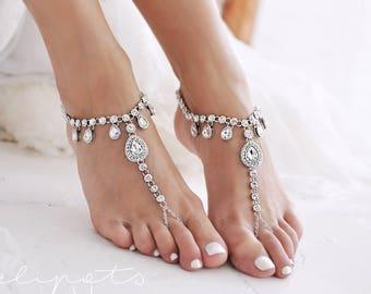 abe28177deaab Wedding foot jewelry | Etsy