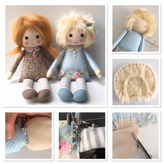 Rag Doll Pattern PDF, cloth doll pattern, make your own rag doll