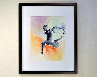 "Original Watercolor Painting by artist John Carollo - ""Aqua"""