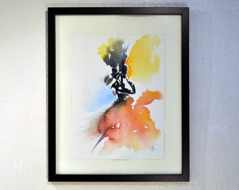 "Original Watercolor Painting by artist John Carollo - ""Mila 2"""