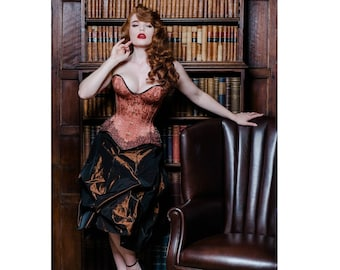 Iridescent brown taffeta skirt – one size fits most