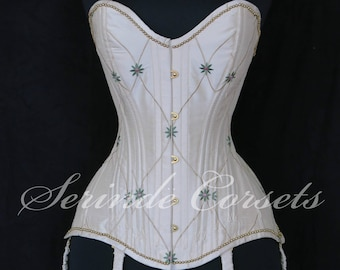 """The """"Marion"""" overbust corset, closing at 22"""" at the waist / size S/M"""