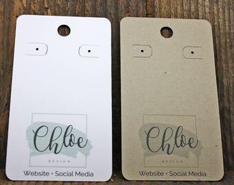 custom earring cards etsy