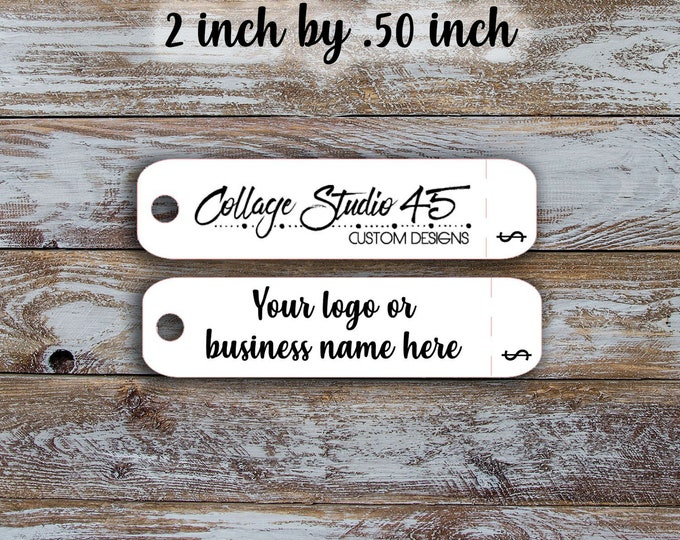 Labels Customized Small Price Tags Custom  tags 2 inch by .50 inch with detachable price retail pricing Jewelry Hang Tags