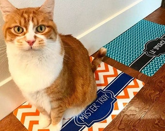 Monogrammed Pet Food Mat - Personalized Pet Food Mat - Pet Mat -Pet Feeding Mat - Gift