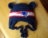 New England Baby Patriots hat for Newborn to 12 months- Tom Brady team colors