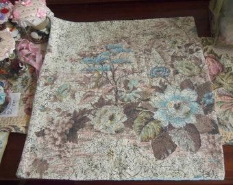 Vintage Barkcloth Pillow Slip Handmade 16 X 18