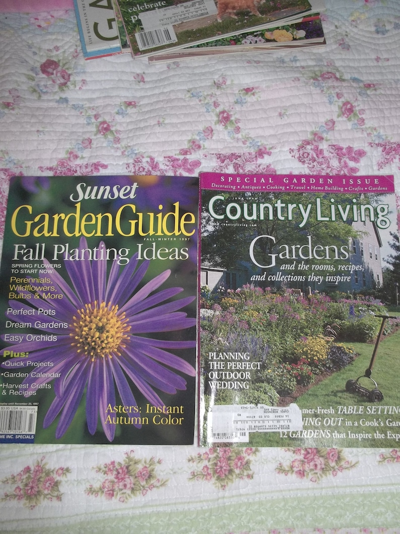Garden Magazines 2 Group One Country Living And Sunset Etsy
