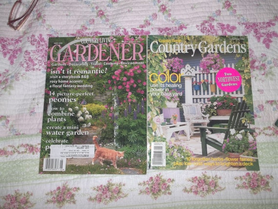 Garden Magazines Group Two Country Living Garden Magazines 2 Etsy