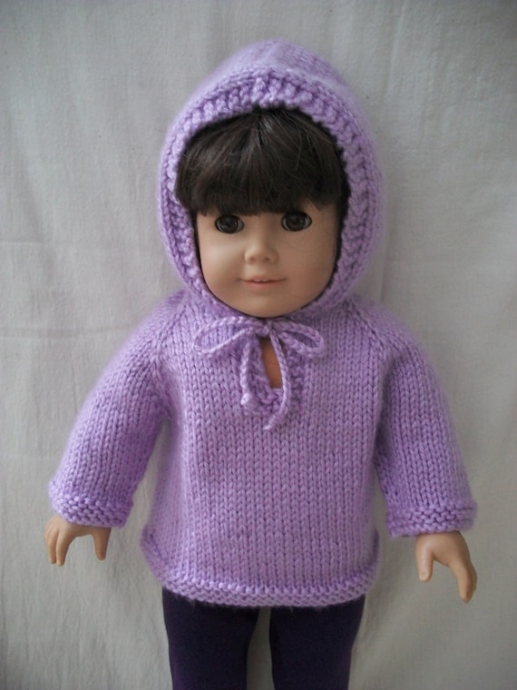 "Boat-neck Pullover Hearts 18/"" Doll Clothes Knitting Pattern Renee Lagala LD-01"