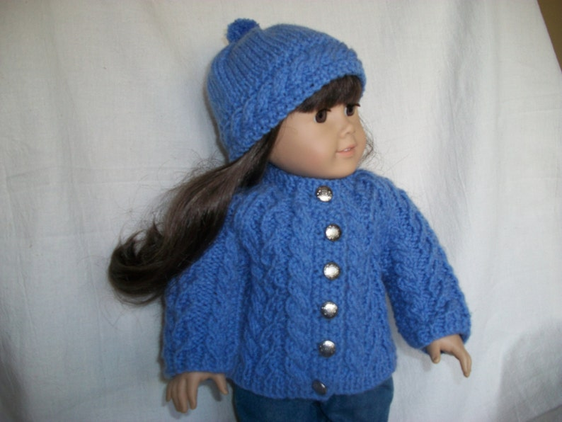 18 inch Doll Knitting Pattern All Over Cable Raglan ...
