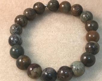 Snakeskin Jasper 10mm Bead Stretch Bracelet
