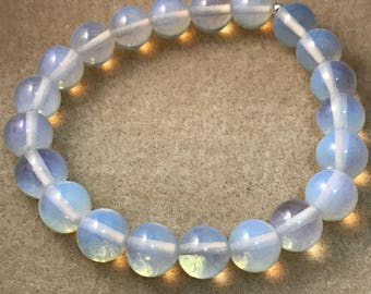 Opalite Bracelet, Beaded Bracelet, Bead Bracelet, Stretch Bracelet, 10mm Bracelet, Opalite Jewelry, Gifts for her, Gemstone Bracelets