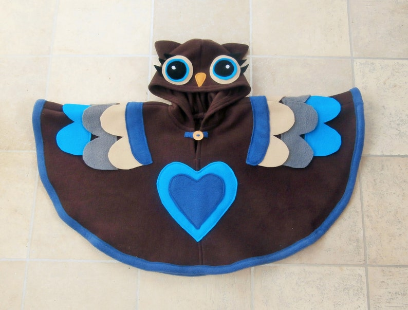 kids Festival Kids woodland OWL PONCHO Owl costume Fairie Pixie