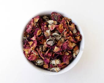 Dried Whole Rosebuds - Herb, Dried Flower, Herbal, Herbal Tea, Bath and Body