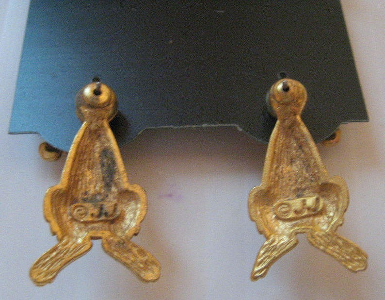 Jonette Jewelry Artifacts 1986 Vintage JJ Earrings  Bunny rabbit New Old Stock unique gift