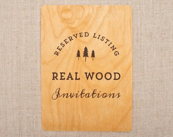 real wood wedding invitations and cards by woodchickinvitations