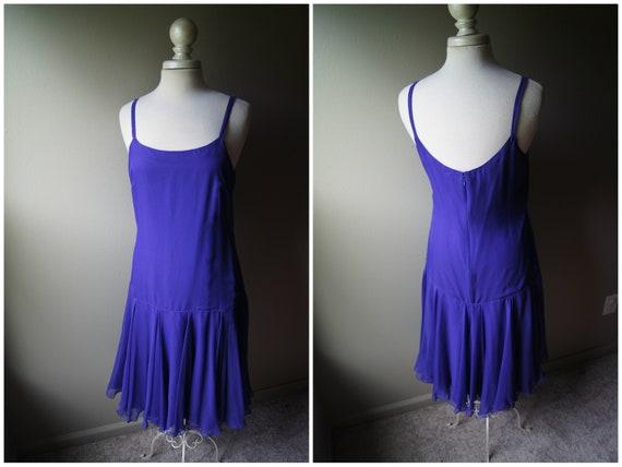Small Dress Night Vintage Twirl Spaghetti Sleeveless Purple LILLIE Lilly Skirt Drop Flapper Date Waist Simple Bridesmaid RUBIN Strap Full X0wHxX