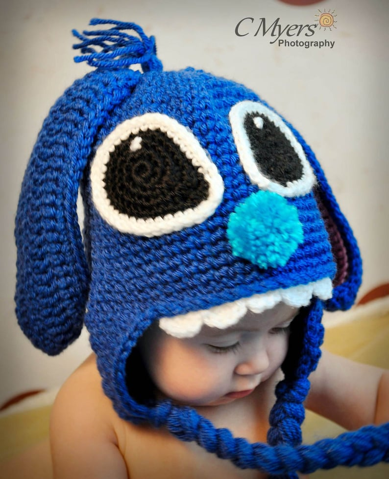 7c5f2ab60 Stitch Mouse Hat, Lilo, Halloween Costume, Baby to Adult Sizes, Photo Prop,  Cartoon Characters, Baby Shower, Cartoon, Mouse Hat