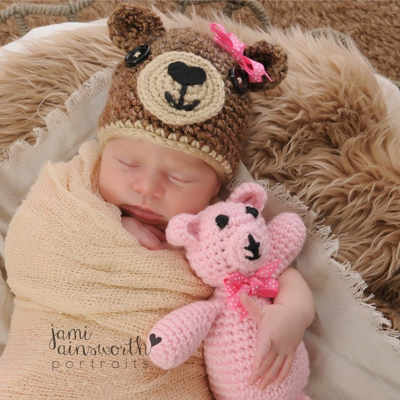 Baby Boy And Girl Matching Halloween Costumes.Baby Bear Hat With Matching Bear Newborn Photo Prop Brown Etsy