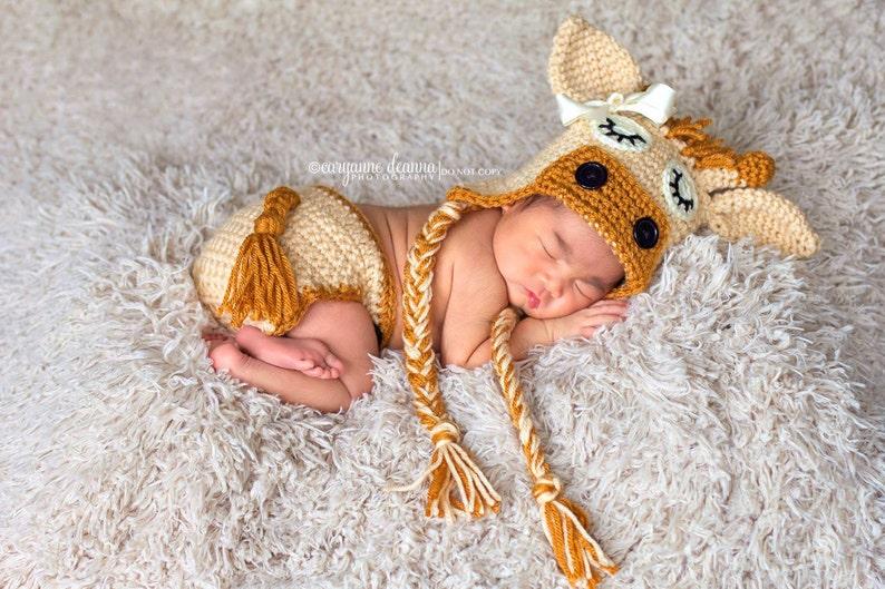 Accessoire bébé Casquettes et chapeaux pour bébé Safari Animal Newborn Baby Girl Boy Crochet Knit photo girafe Photography Prop