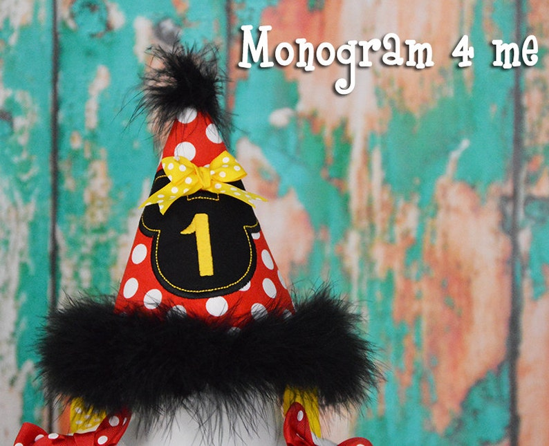 Minnie Mouse First Birthday Polka Dot Hat