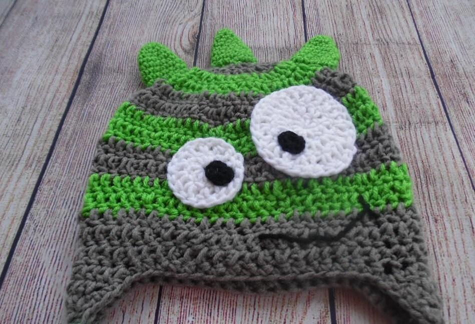 Free Shipping Crochet Monster Hat Halloween Hat Child Hat Etsy