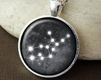 Virgo Constellation Necklace, Virgo Birthday Gift, Virgo Stars, Virgo Zodiac Sign Pendant, Virgo Jewelry