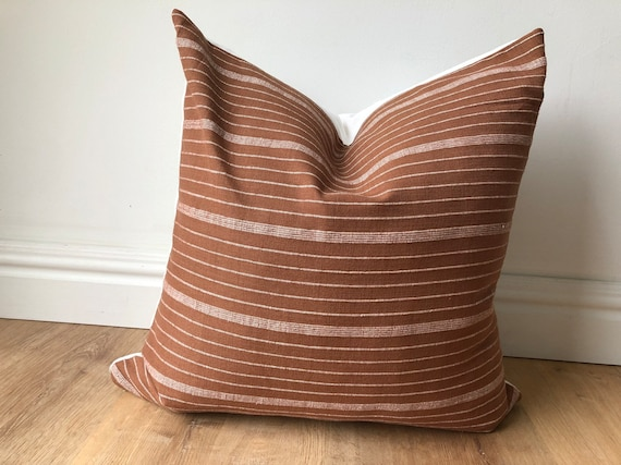 Pillow cover Cusco Stripe Terracotta