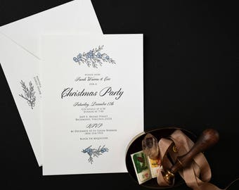 SAMPLE - Letterpress Party Invitation