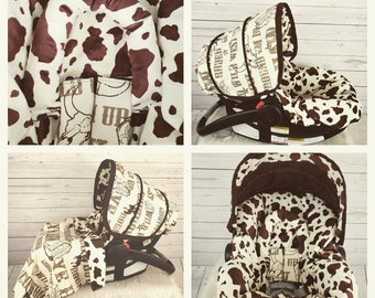 ec2b10177e3 Baby boy Cowboy western themed baby carrier cover - Made to order