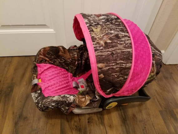 Hunter Camo Infant Car Seat Cover Baby Girl Sear