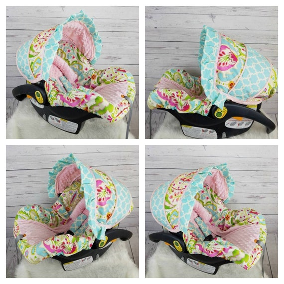 Baby Girl Infant Car Seat Cover Ruffle