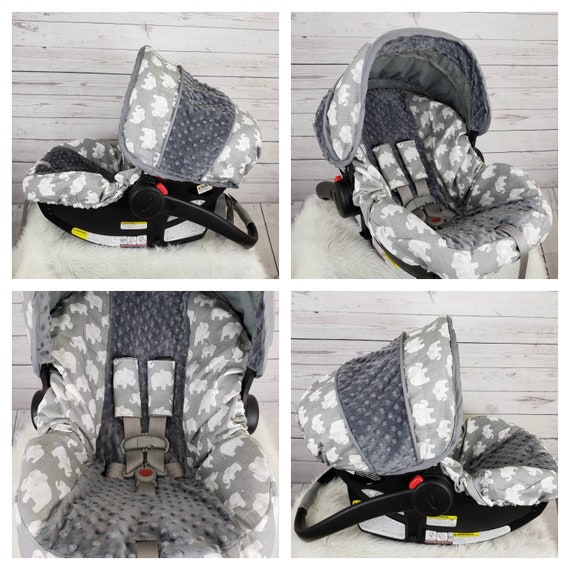 Elephant Car Seat Cover Set Baby Boy Slipcover