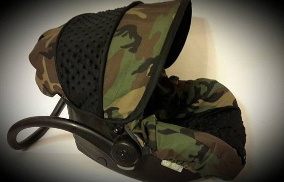 Camo Infant Car Seat Cover Baby Boy Camouflage