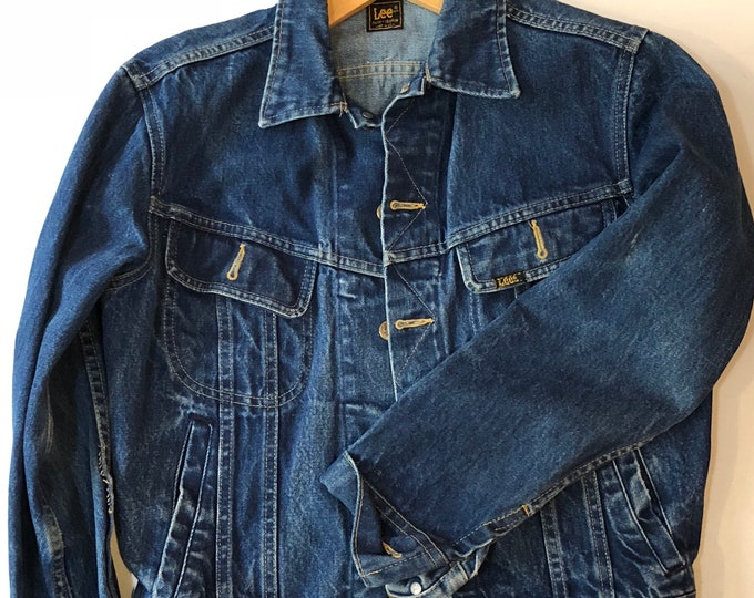 Lee rider denim jacket 1970s sz 40