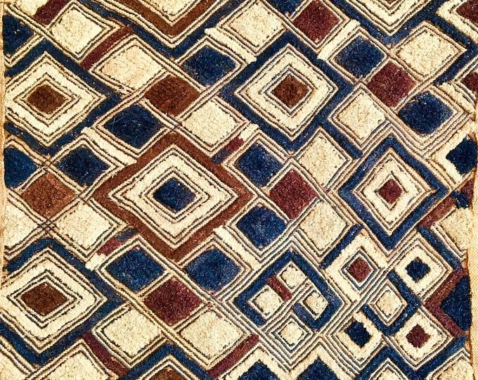 Congolese Kuba Grass Mat, Wall Hanging
