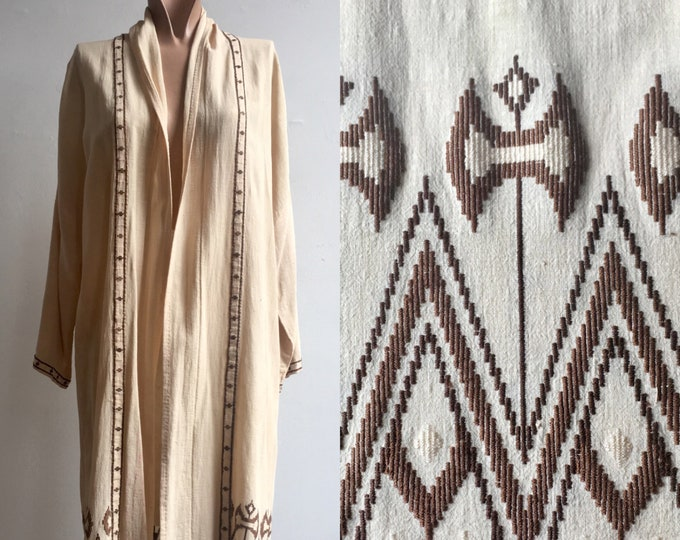 1920s Arts and Crafts Flapper Era Duster Robe