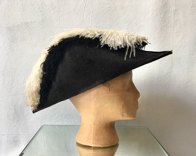 Victorian Era Fraternal or Military Bicorn Hat