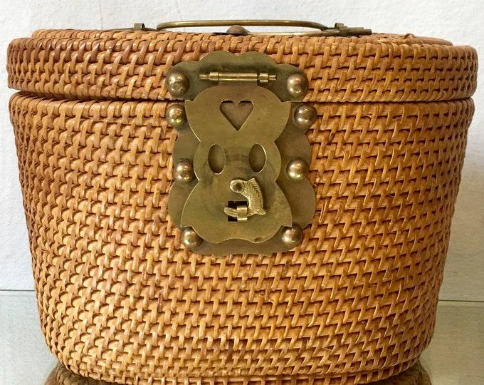 1920s Chinese Woven  Basket Handbag