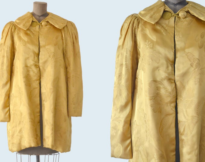 1930s Gold Brocade Jacket size M
