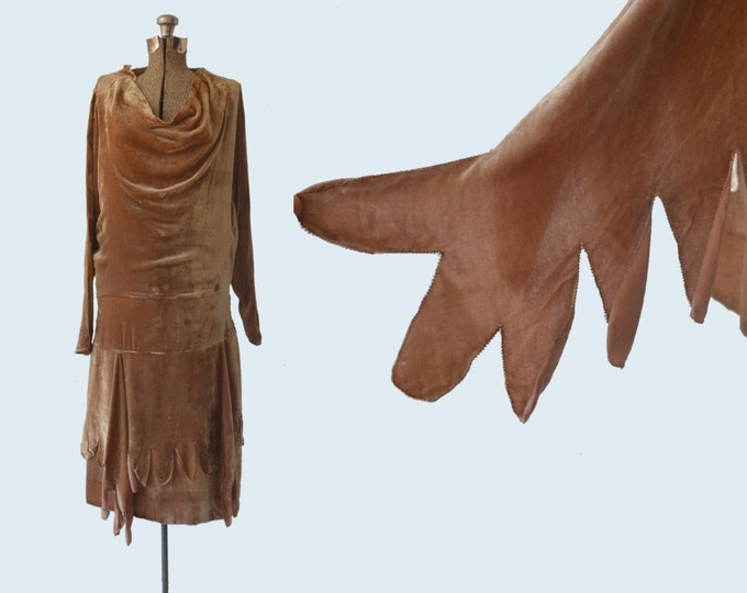 1920s Velvet Flapper Dress