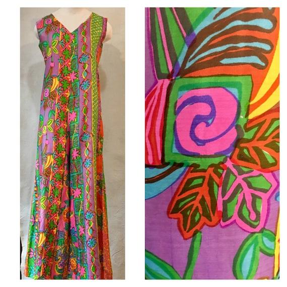 1970s Silk Floral Jumpsuit