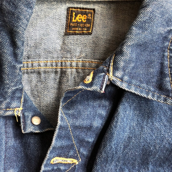 Lee rider denim jacket 1970s sz 40 - image 3