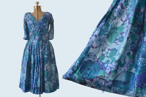 1950s Suzy Perette Silk Dress size M