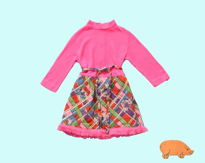 Childs 1960s Quilted Dress