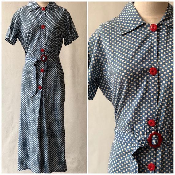 1930's Polka Dot Beach Pajamas