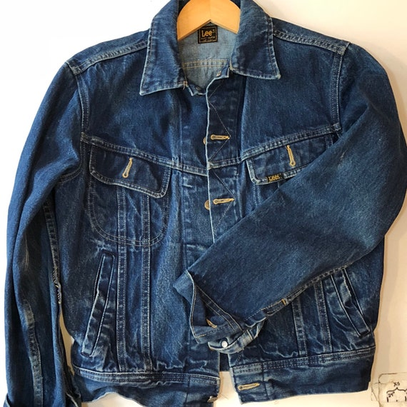 Lee rider denim jacket 1970s sz 40 - image 1