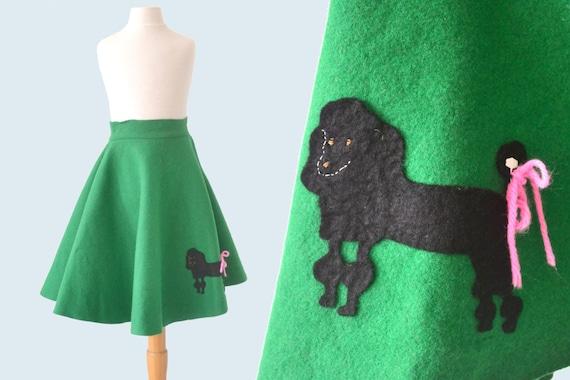 1950s Child's Felt Poodle Skirt